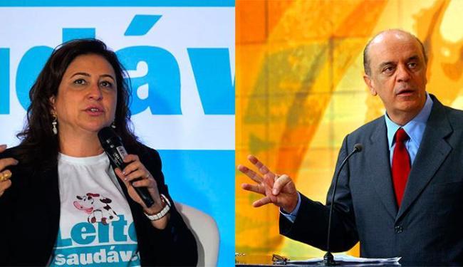 José Serra (PSDB-SP) disse que a ministra Kátia Abreu (PMDB) tinha fama de