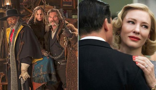 Os Oito Odiados, de Tarantino, e Carol devem ser alguns filmes que levarão prêmios no ano - Foto: Divulgação