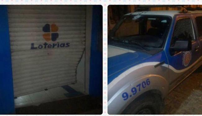 Além de explodir agências, bando atirou contra viatura da PM - Foto: Reprodução | Site Bahia10