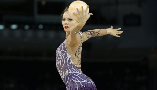Angélica Kvieczynski é a terceira colocada no geral com 30,600 pontos - Foto: Tom Szczerbowski-USA TODAY Sports   Reuters