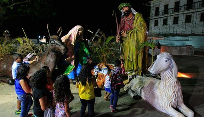 Imagens representam o nascimento de Cristo - Foto: Fernando Amorim | Ag. A TARDE