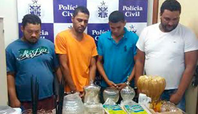 Os suspeitos capturavam o motorista e conduzia-o com o caminhão e a mercadoria até o cativeiro - Foto: Divulgação | Polícia Civil