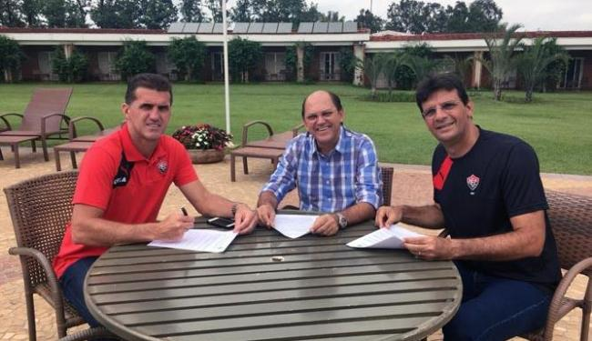 Mancini renova contrato e permanece no Vitória para 2016 - Foto: Divulgação | Esporte Clube Vitória