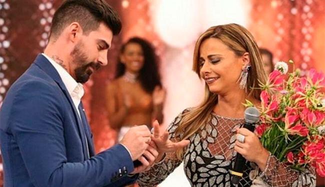 Atriz foi surpreendida pelo noivo Radamés durante o quadro - Foto: Reprodução | Instgaram
