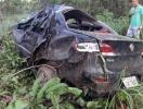 Carro capota e deixa cinco feridos na BR-242 - Foto:   Ag. A TARDE