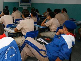 São 2.201 vagas para os 13 colégios da PM e 36 para creche - Foto: Joá Souza | Ag. A Tarde