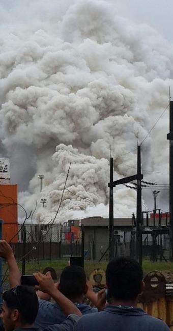 Coluna de fumaça é vista de vários locais após vazamento de gás - Foto: Divulgação | Polícia Militar