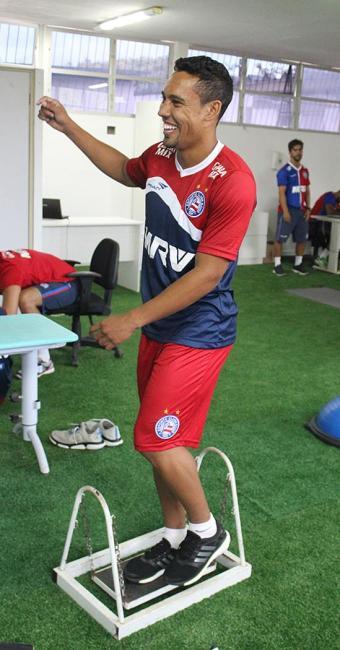 Enfim anunciado, Edigar Junio realizou testes físicos nesta quinta-feira, 7 - Foto: Divulgação l E.C. Bahia