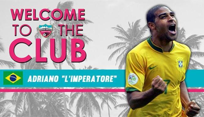 Imperador atuará pelo Miami United, que disputa uma das ligas inferiores do futebol norte-americano - Foto: Reprodução l Miami United FC!