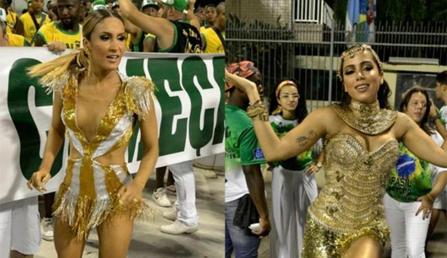 Claudia Leitte e Anitta participaram recentemente do ensaio técnico da escola de samba - Foto: Reprodução | Instagram