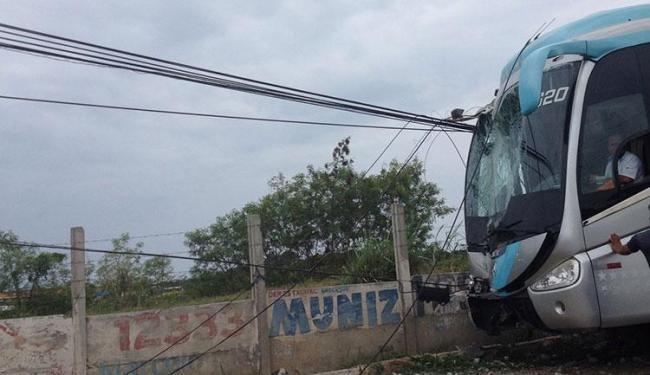 O acidente que aconteceu próximo ao Posto 3 - Foto: Cidadão Repórter | Via WhatsApp