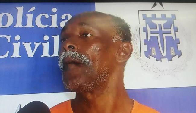 Após investigação da policia, Blenivaldo foi confirmado como autor das facadas - Foto: Reprodução TV Record