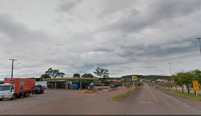 Argentino parou em posto na BR-285 e não percebeu que sua mulher deixou o carro - Foto: Reprodução | Google Maps