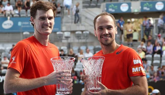 Bruno venceu ao lado do novo parceiro, o britânico Jamie Murray - Foto: Agência AP
