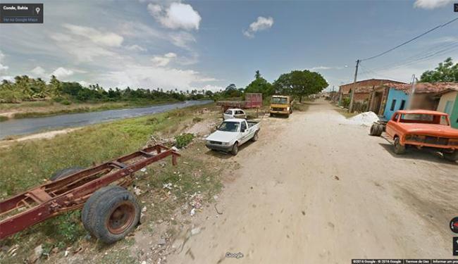 Rio Itapicuru passa pela cidade de Conde - Foto: Reprodução / Google Maps