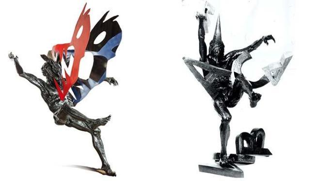 A mostra Lendas e Aparições reúne esculturas em bronze e aço de Daniel Hourdé - Foto: Divulgação