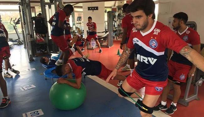 O grupo treinou na academia do clube - Foto: Divulgação   E.C. Bahia