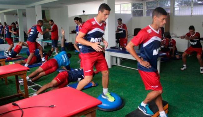Elenco tricolor fez atividades na academia e fisioterapia - Foto: Divulgação