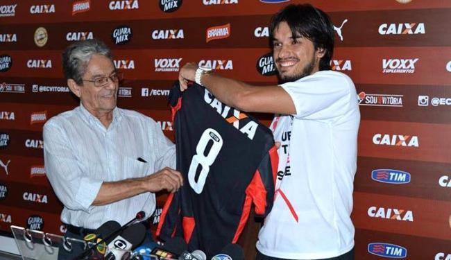 Ex-jogador do rival, Tiago quer escrever uma nova história pelo Leão - Foto: Francisco Galvão | EC Vitória