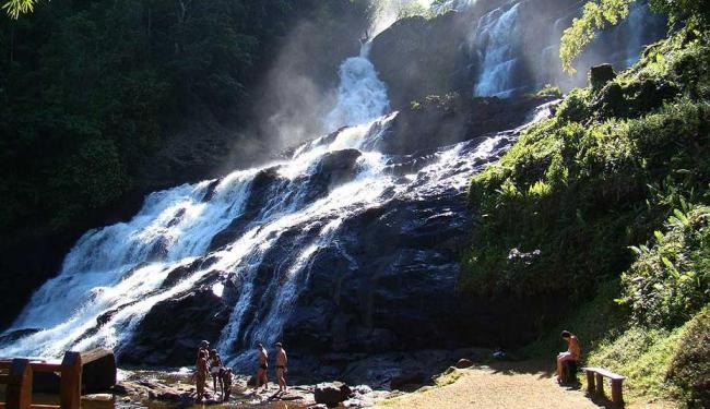 Cachoeira de Pancada Grande é um dos principais atrativos da cidade - Foto: Divulgação | Prefeitua
