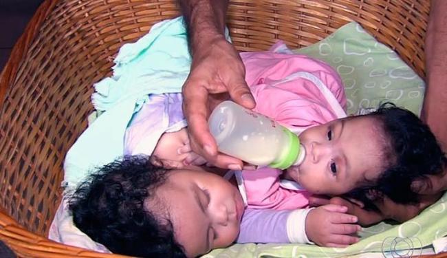 As gêmeas seguem internadas na UTI Pediátrica do hospital - Foto: Reprodução | TV Anhangueragême