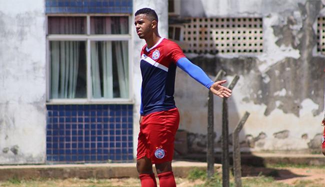 Geovane Itinga (foto) divide com Felipinho artilharia do Bahia na Copinha, com quatro gols marcados - Foto: EC Bahia l Divulgação