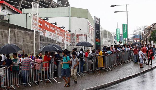 Para a torcida em geral, a comercialização será aberta apenas na quarta-feira, 20 - Foto: Eduardo Martins l Ag. A TARDE