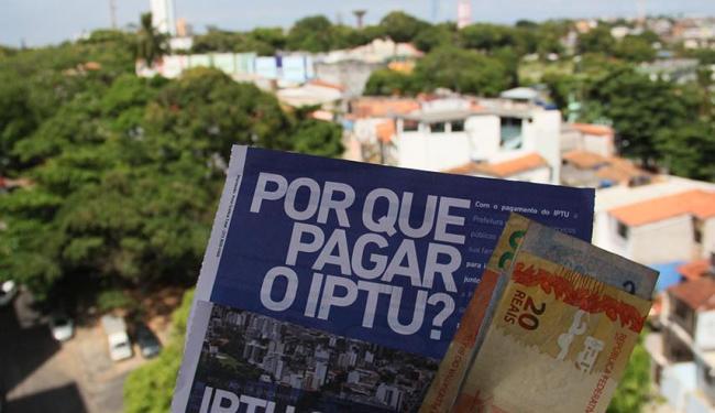 IPTU pode ser pago em cota única com 10% de desconto - Foto: Joa Souza | Ag. A TARDE