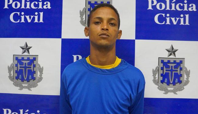 O anúncio da polícia foi feito durante apresentação do suspeito Isaac dos Santos (foto) nesta quarta - Foto: Divulgação   Polícia Civil
