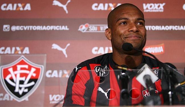 Maicon Silva em sua primeira entrevista no Vitória - Foto: Lúcio Távora l Ag. A TARDE