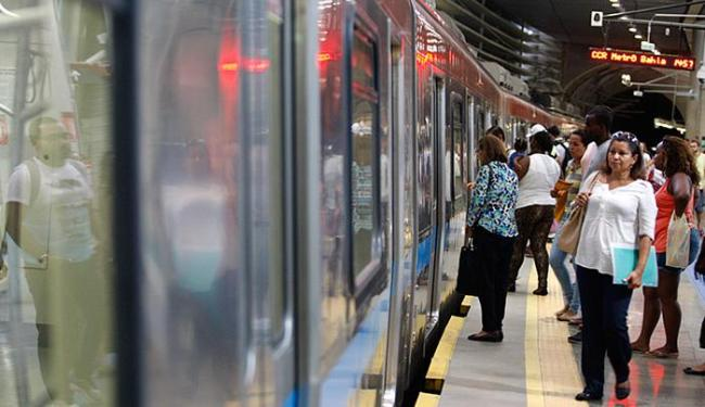 Com a cobrança iniciada em janeiro, a tarifa do metrô custa R$ 3,30 - Foto: Joa Souza l Ag. A TARDE