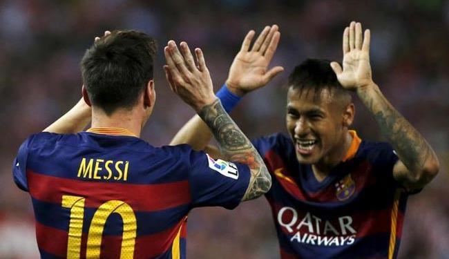 Messi e Neymar não encontraram dificuldades diante do Grananda - Foto: Agência Reuters