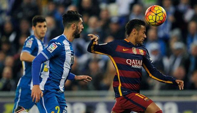 Barcelona enfrentou o Espanyol neste sábado - Foto: Stringer | Ag. A TARDE