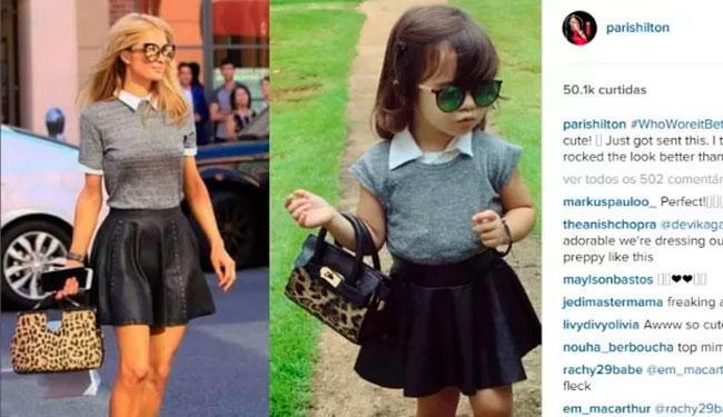 Socialite disse que look ficou melhor na menina de 2 anos - Foto: Reprodução | Instagram
