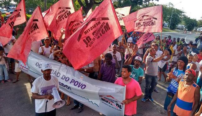 MTST faz protesto em frente à Governadoria - Foto: Joá Souza | Ag. A TARDE