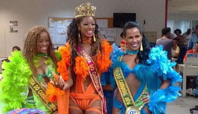Rainha e princesas do Carnaval estiveram na redação do A TARDE - Foto: Bruno Porciuncula | Ag. A TARDE
