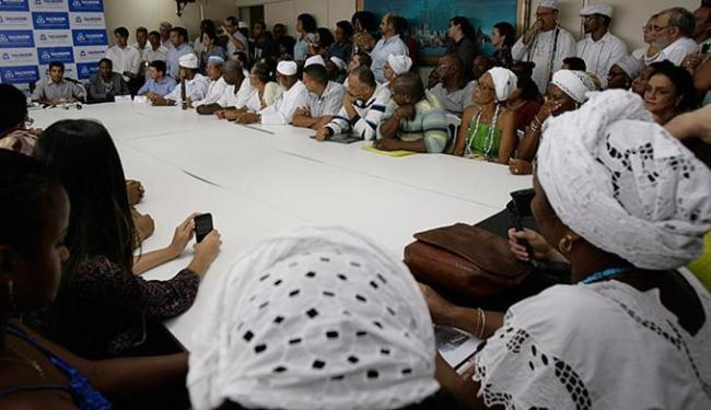 Representantes de espaços religiosos prestigiaram cerimônia na prefeitura nesta quinta-feira, 21 - Foto: Joa Souza l Ag. A TARDE