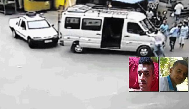 Rosival (à esquerda) e Deimisson foram assassinados no lugar do dono do veículo - Foto: Reprodução l Amarelinho10.blogspot.com.br