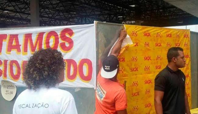 Entre os materiais estavam 9.500 panfletos, 42 faixas e 24 banners - Foto: Divulgação | Sucom