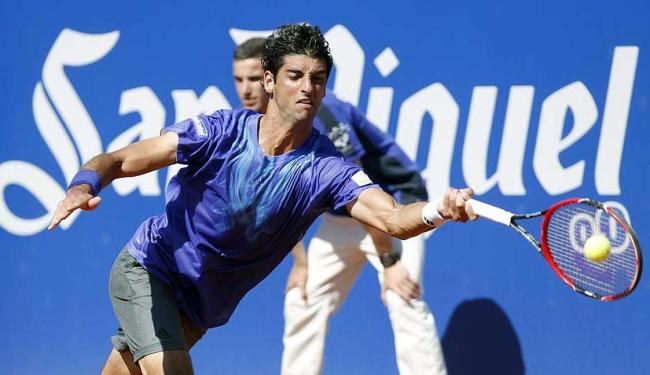 Bellucci até não foi mal enquanto sacava, fazendo cinco aces apenas no primeiro set - Foto: Andreu Dalmau   Ag. EFE