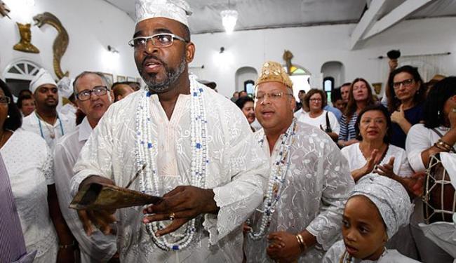 Cerimônia lotou espaço, que preserva ritos originais da linhagem e o dialeto africano ewe-fon - Foto: Joá Souza / Ag. A TARDE