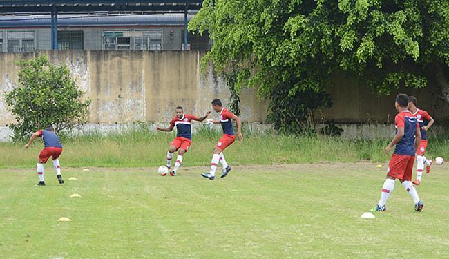 Meninos treinam para o jogo em Mogi das Cruzes - Foto: Cairo Oliveira l EC Bahia