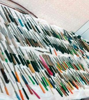Mais de 300 armas brancas são apreendidas no Carnaval - Foto: Divulgação | Secom