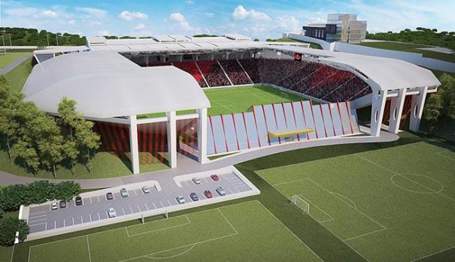 Projeto do novo estádio rubro-negro contempla cobertura e áreas de camarotes - Foto: Divulgação l EC Vitória