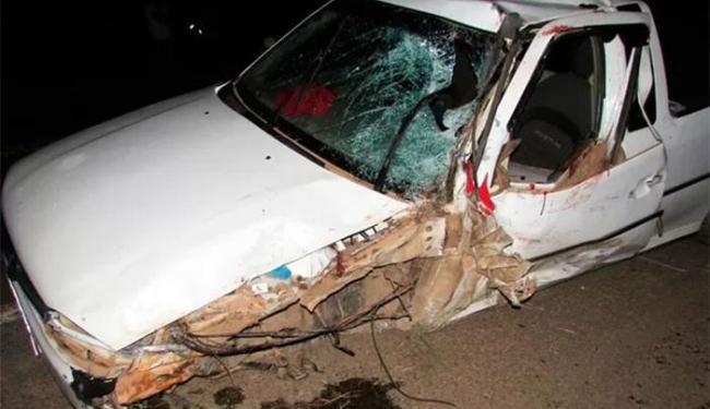 O acidente aconteceu na BR-242, em Barreiras - Foto: Diogo Gomes l Blog Braga