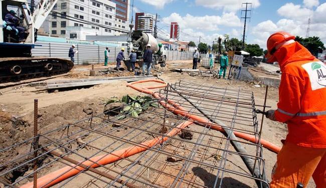 A construção continua com os recursos já recebidos para o projeto - Foto: Luiz Tito | Ag. A TARDE