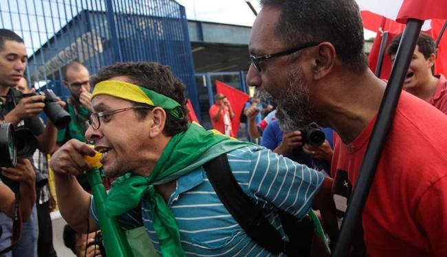 O ato ocorre em frente ao Fórum Criminal da Barra Funda, na zona oeste de São Paulo - Foto: Leonardo Benassato | Estadão Conteúdo