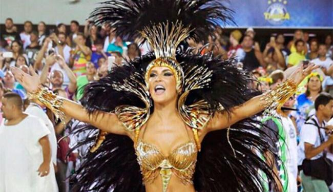 A cantora está há dois anos no posto de rainha de bateria da escola de samba do Carnaval do Rio - Foto: Reprodução | Instagram