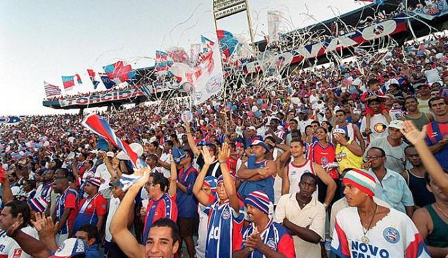 O último título do Tricolor no principal torneio regional do país aconteceu em 2002 - Foto: Carlos Casaes l Ag A TARDE l 05.05.2002