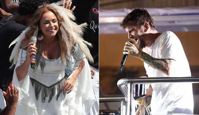 Daniela Mercury e Saulo vão se apresentar no Circuito Dodô (Barra/Ondina) - Foto: Lúcio Távora   Raul Spinassé   Ag. A TARDE